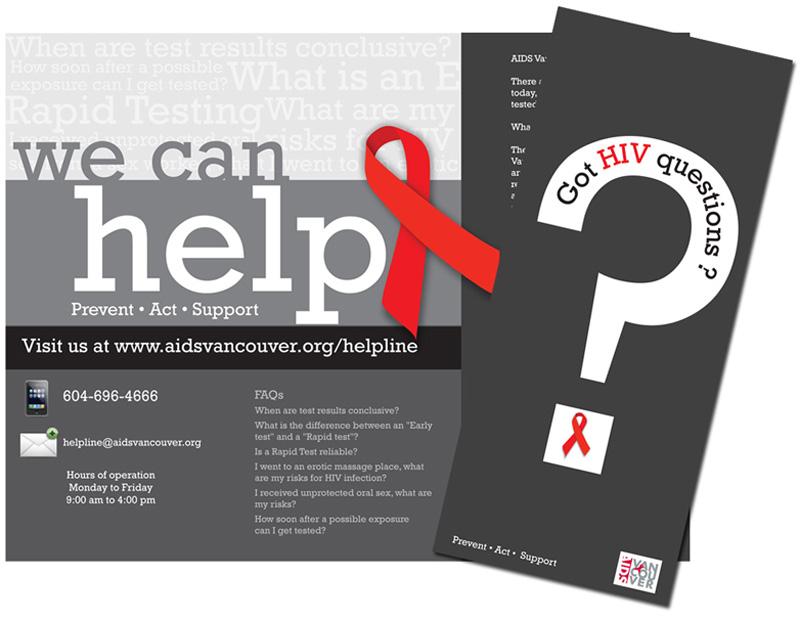 AIDS Vancouver Help line brochure