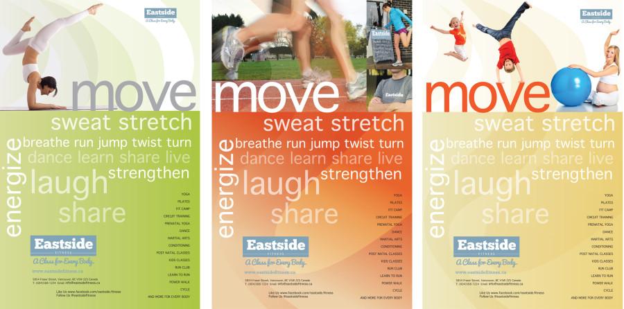 Eastside fitness posters graphic desig =n