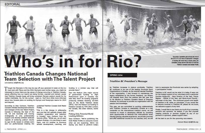Triathlon BC inside page