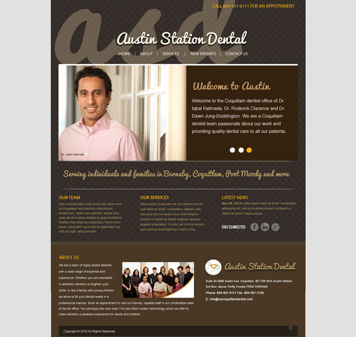 Austin Station Dental Web Design