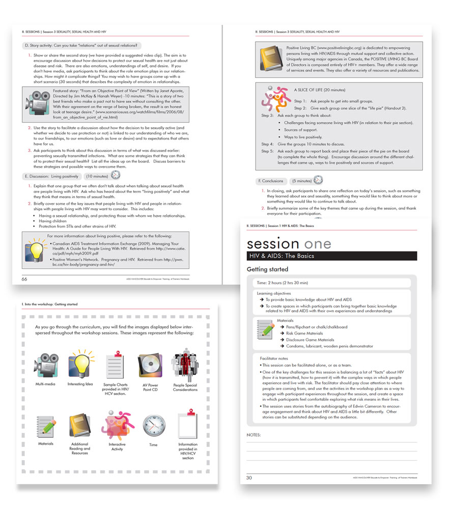 Educate to Empower training kit inside pages