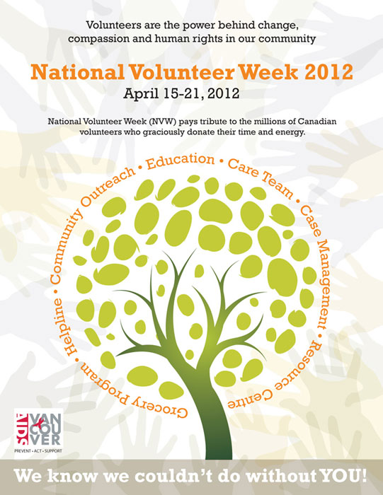 2012 AIDS Vancouver Volunteer Week poster design