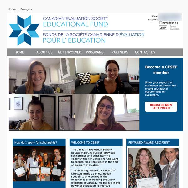 CESEF Website mockup