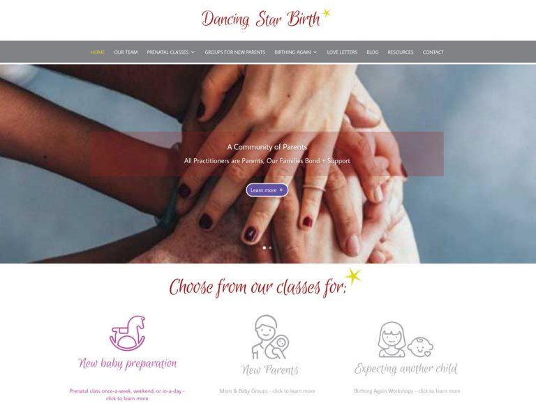 dancingstarbirth website screenshot