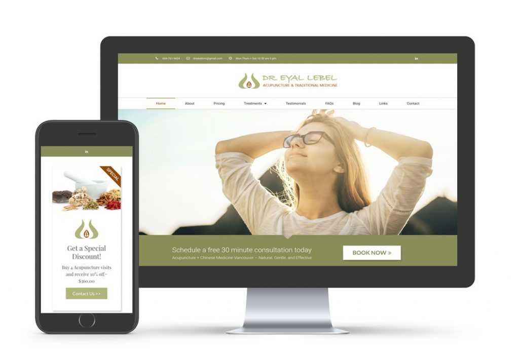 Dr Eyal TCM WordPress Website Mockup