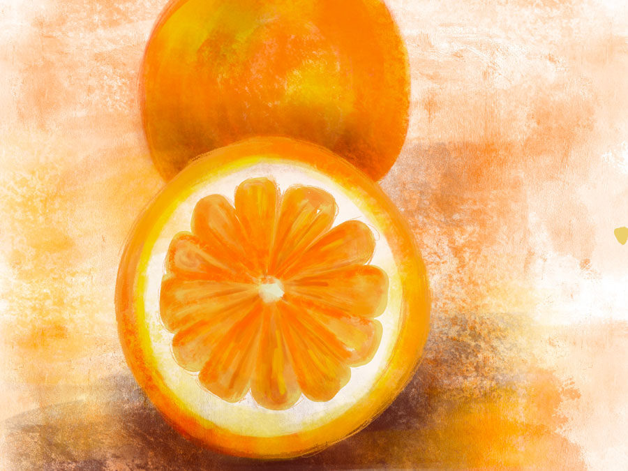 Make Art Everyday – Day One of Fruits- Orange